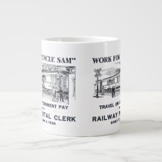 Railway Postal Clerk 1926 Jumbo Mug 20 Oz Large Ceramic Coffee Mug