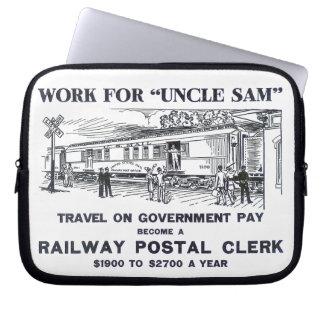 Railway Postal Clerk 1926 Laptop Computer Sleeve