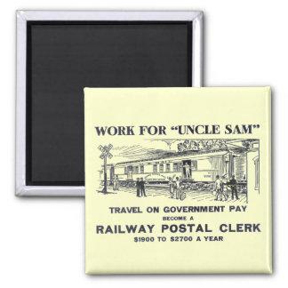 Railway Postal Clerk 1926 Fridge Magnets