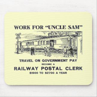 Railway Postal Clerk 1926 Mouse Pad
