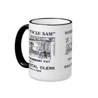 Railway Postal Clerk 1926 Ringer Coffee Mug