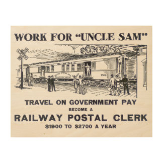 Railway Postal Clerk 1926 Wood Prints
