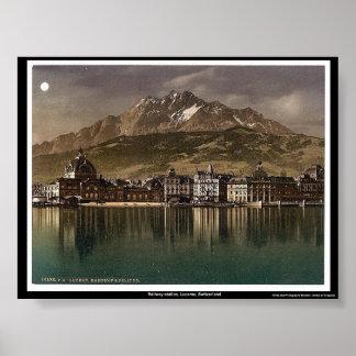 Railway station, Lucerne, Switzerland Poster
