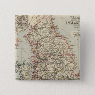 Railway, statistical England, Wales 15 Cm Square Badge