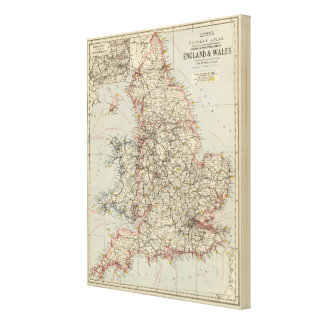 Railway, statistical England, Wales Canvas Print
