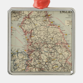 Railway, statistical England, Wales Silver-Colored Square Decoration