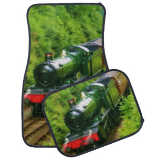 Railway Steam Train for Trainspotters Art Car Mats