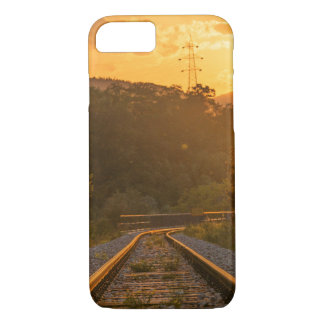 Railway sunset scenery iPhone 7 case
