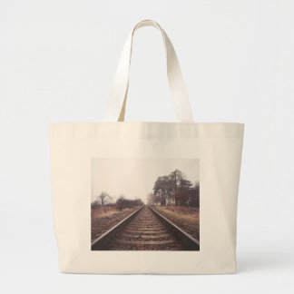 Railway to the Infinity Large Tote Bag