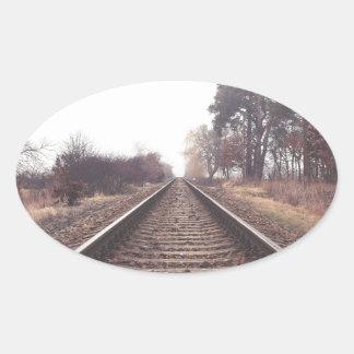 Railway to the Infinity Oval Sticker