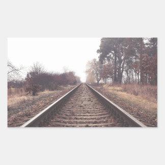 Railway to the Infinity Rectangular Sticker