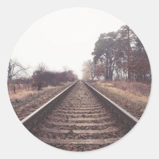 Railway to the Infinity Round Sticker