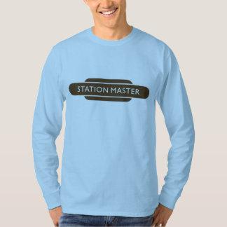 Railway Totem Station Master Brown Hiking Duck T-Shirt