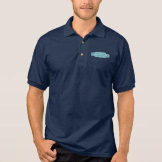 Railway Totem Train Spotter Blue Hiking Duck Polo Shirt