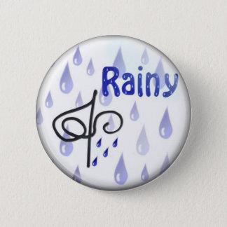 rain 6 cm round badge