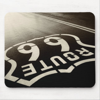 Rain and Route 66 Mouse Mat