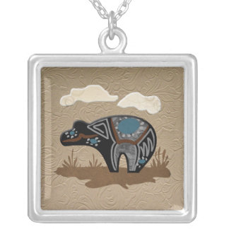 Rain Bear Silver Plated Necklace
