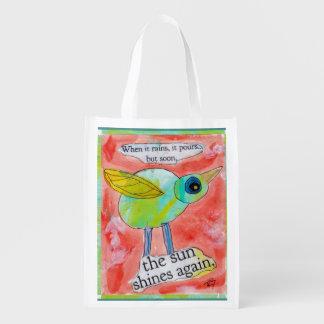 Rain Bird Grocery Bag