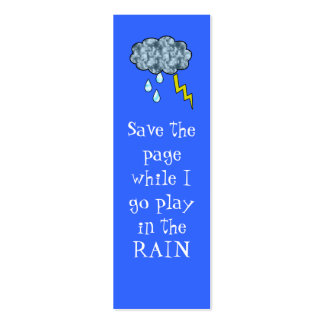 rain bookmark business cards