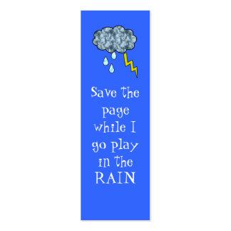 rain bookmark pack of skinny business cards