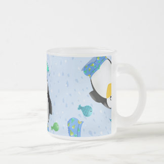 Rain boots Penguin Frosted Glass Mug