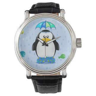 Rain boots Penguin Wristwatches