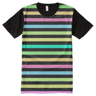 Rain Bow & Black American Apparel Buy Online Sale All-Over Print T-Shirt