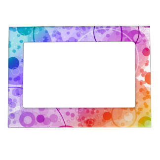 RAIN BUBBLES IN RAINBOWS MAGNETIC FRAME