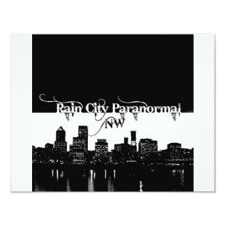 Rain City Paranormal -- Cityscape 11 Cm X 14 Cm Invitation Card