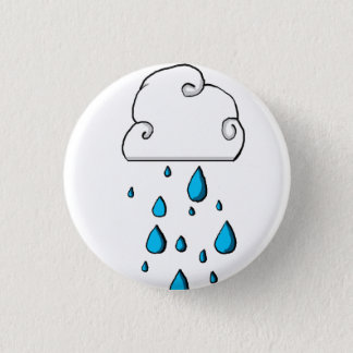 rain cloud 3 cm round badge