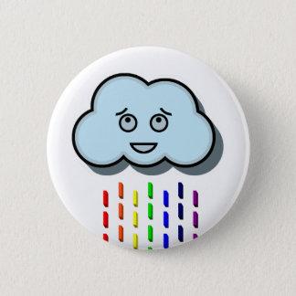 Rain Cloud 6 Cm Round Badge