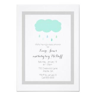 Rain Cloud Baby Shower Invitation