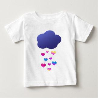 Rain Cloud & Falling Hearts Baby T-Shirt