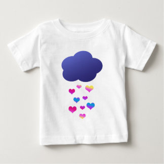 Rain Cloud & Falling Hearts Tee Shirts