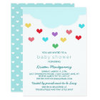 Rain Cloud & Hearts | Baby Shower Invitation