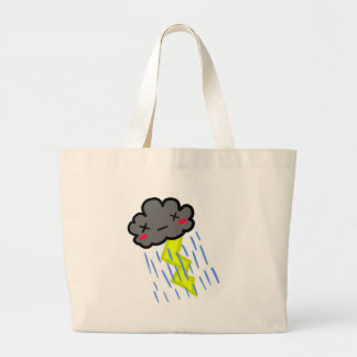 Rain Cloud Large Tote Bag