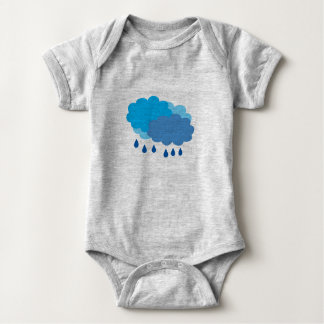 Rain Cloud Vest Baby Bodysuit