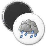 Rain Clouds 6 Cm Round Magnet