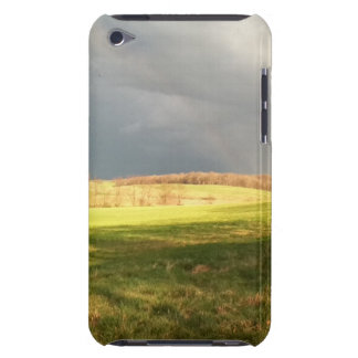 rain clouds and field ipod iPod Case-Mate case