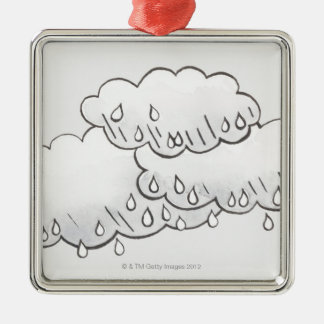 Rain Clouds Christmas Ornament