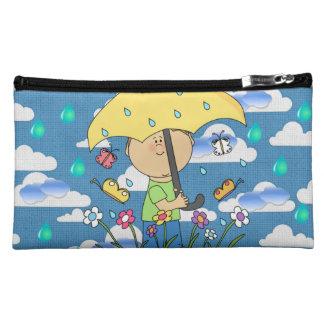 rain clouds girls baggette cosmetic bag