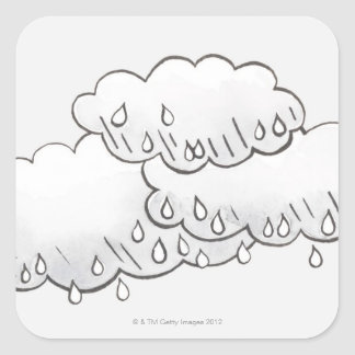 Rain Clouds Square Sticker