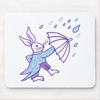 Rain Drop Bunny Mousepads