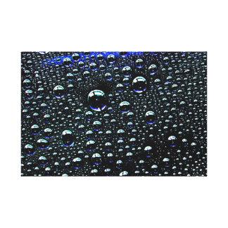Rain drop stretched canvas prints