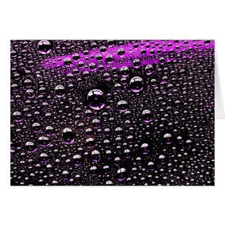 Rain Drop Greeting Card