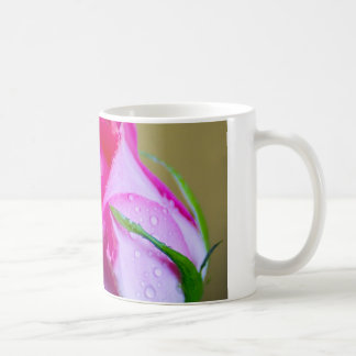 Rain Drop Kisses of Nature on Pink Rose Coffee Mug