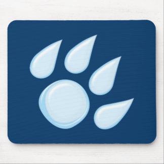 Rain drop paw raindrop paw mousepad