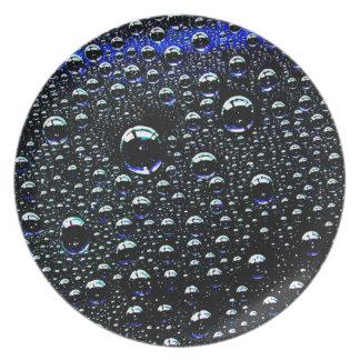 Rain Drop Party Plates