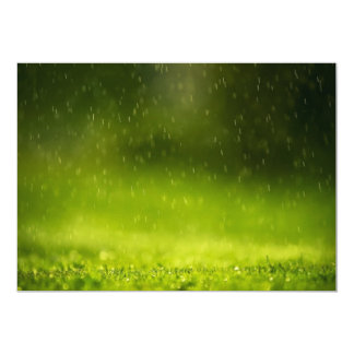 Rain Drops 13 Cm X 18 Cm Invitation Card