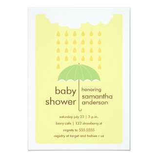 Rain Drops Baby Shower Invitation - Gender Neutral